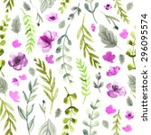 pattern color flowers... | Shutterstock . vector #296095574