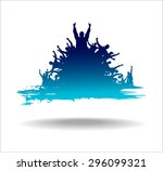 advertising banner sports... | Shutterstock .eps vector #296099321