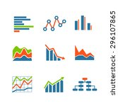 different graphic business... | Shutterstock .eps vector #296107865