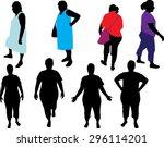 overweight woman vector... | Shutterstock .eps vector #296114201