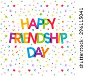 illustration of friendship day. | Shutterstock .eps vector #296115041