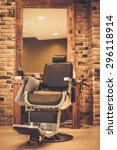 client's chair in barber shop | Shutterstock . vector #296118914