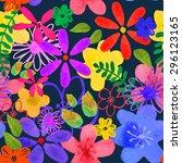 vector illustration of floral... | Shutterstock .eps vector #296123165