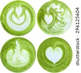 Latte Art With Japanese Green...