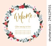 beautiful  vintage card. floral ... | Shutterstock .eps vector #296129531