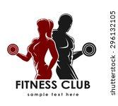 fitness club logo or emblem