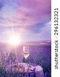 Wine Glass Against Lavender...
