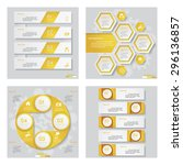 collection of 4 yellow color... | Shutterstock .eps vector #296136857