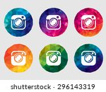 set of camera icons | Shutterstock . vector #296143319