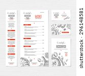 Restaurant menu template. Cafe identity. Vector illustration | Shutterstock vector #296148581