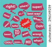 speech  chat icons  signs ... | Shutterstock .eps vector #296149259