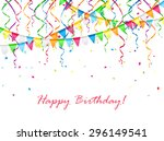 birthday background with... | Shutterstock .eps vector #296149541