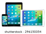 apple iphone 5s and two apple... | Shutterstock . vector #296150354