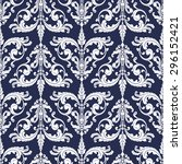 wallpaper in baroque style.... | Shutterstock .eps vector #296152421