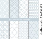 seamless backgrounds collection.... | Shutterstock .eps vector #296152529