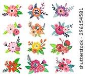 vector set of hand drawing... | Shutterstock .eps vector #296154581