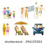 people on vacation icons set. ...   Shutterstock .eps vector #296155301