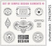 lines flat elements design... | Shutterstock .eps vector #296156921