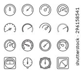 meter icons. symbols of... | Shutterstock .eps vector #296158541