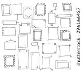 collection of handdrawn frames... | Shutterstock .eps vector #296166437