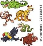 Jungle Animals. Vector Clip Ar...
