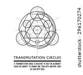 transmutation circles  ... | Shutterstock .eps vector #296170274