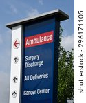 Hospital Sign Showing Directio...