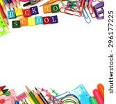 Colorful back to school wooden...