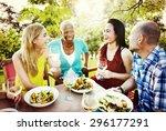 friends friendship outdoor... | Shutterstock . vector #296177291