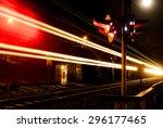 Train Crossing At Night