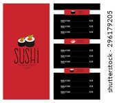 abstract sushi menu background...   Shutterstock .eps vector #296179205