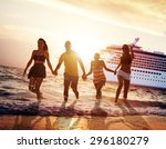 friendship freedom beach summer ... | Shutterstock . vector #296180279