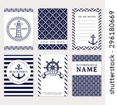 set of nautical and marine... | Shutterstock .eps vector #296180669