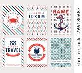 Set Of Nautical And Marine...