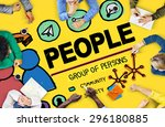 people person group citizen... | Shutterstock . vector #296180885