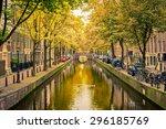 bridge over canal in amsterdam | Shutterstock . vector #296185769