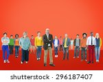 people community togetherness... | Shutterstock . vector #296187407