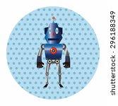 robot theme elements | Shutterstock .eps vector #296188349