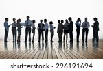 corporate business team... | Shutterstock . vector #296191694