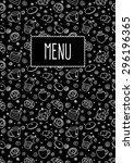 menu template with hand drawn... | Shutterstock .eps vector #296196365