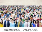 large group of diverse...   Shutterstock . vector #296197301