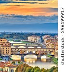 Bridges Over Arno River At...