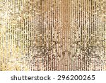 gold sequins seamless background | Shutterstock . vector #296200265
