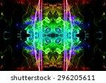 art of color smoke on black...   Shutterstock . vector #296205611