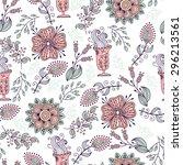 seamless pattern in vintage... | Shutterstock . vector #296213561