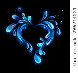heart of sparkling drops of... | Shutterstock .eps vector #296214221