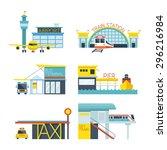 mode of transport illustration...   Shutterstock .eps vector #296216984