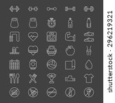 sport or fitness icons   vector ... | Shutterstock .eps vector #296219321