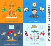 hotel services design concept... | Shutterstock .eps vector #296220659