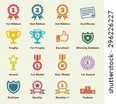 award elements  vector... | Shutterstock .eps vector #296226227